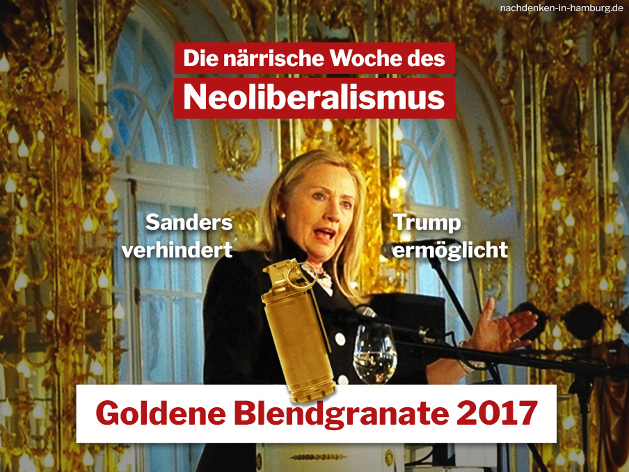 Clinton die Goldene Blendgranate international